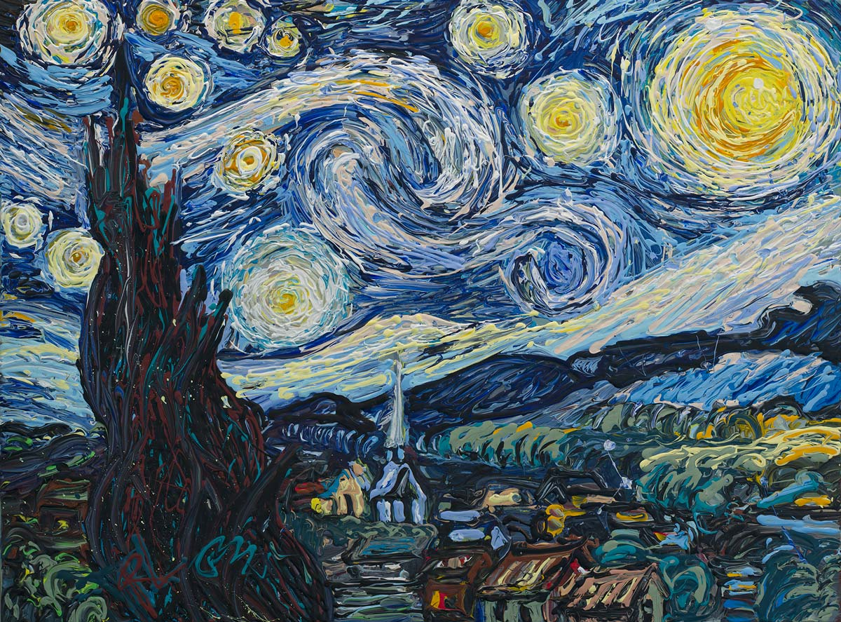 Ron Squared Re-Creates Starry Night