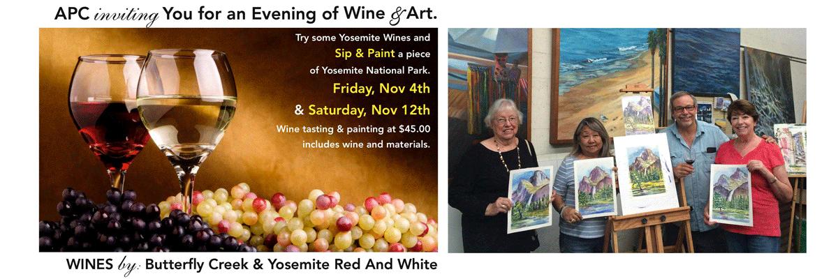 Art Class & Wine: